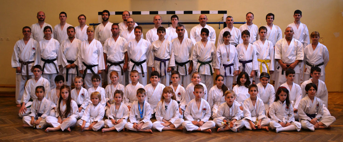 seinchin karate pesterzsebet csoportkép